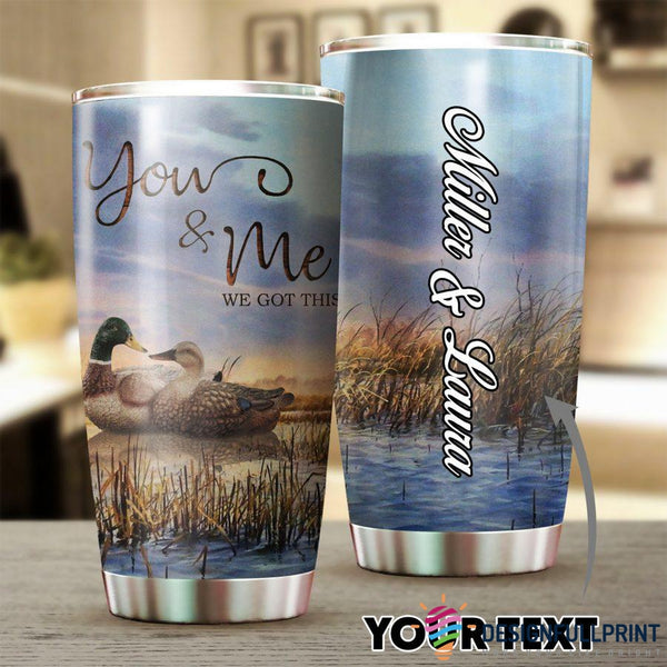 Personalized Duck Hunting Couple Tumbler
