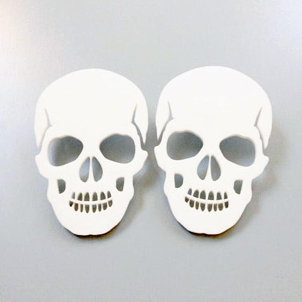 Trendy Skull Head Skeleton Stud Earrings