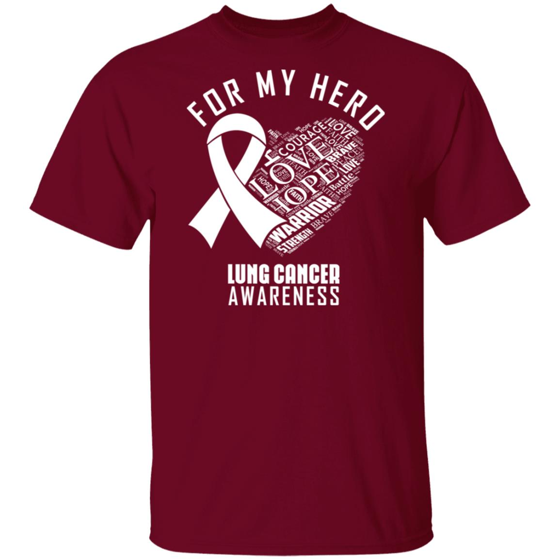 For My Hero Lung Cancer Awareness Black Ultra Cotton Shirt