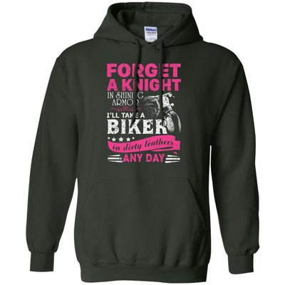 Forget A Knight In Shiny Armor I Take A Biker In Dirty Leather Ultra Cotton T-Shirt - designfullprint