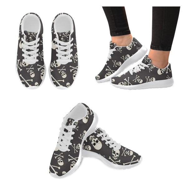Cross Bone Skull Printed Women's Sneakers