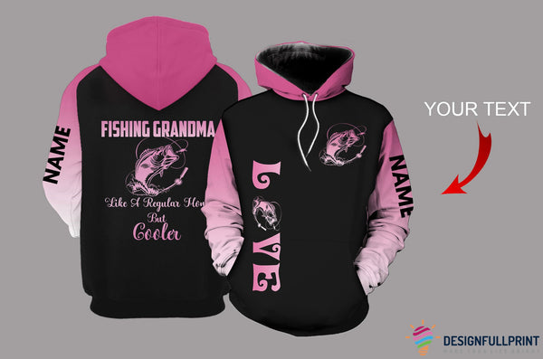 Fishing Grandma Personalized US Unisex Size Hoodie