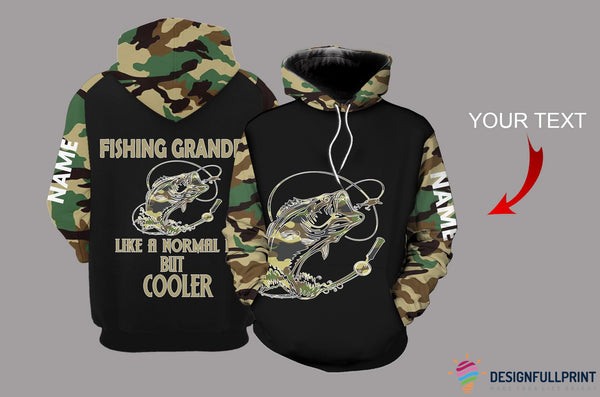 Fishing Grandpa Personalized US Unisex Size Hoodie