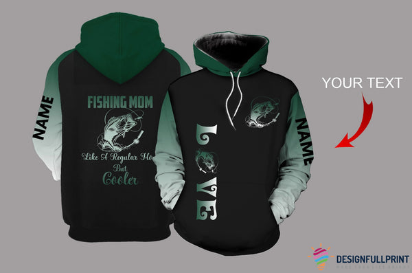 Fishing Mom Green Personalized US Unisex Size Hoodie