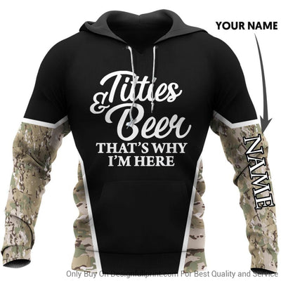 Titties and Beer Personalized US Unisex Size Hoodie