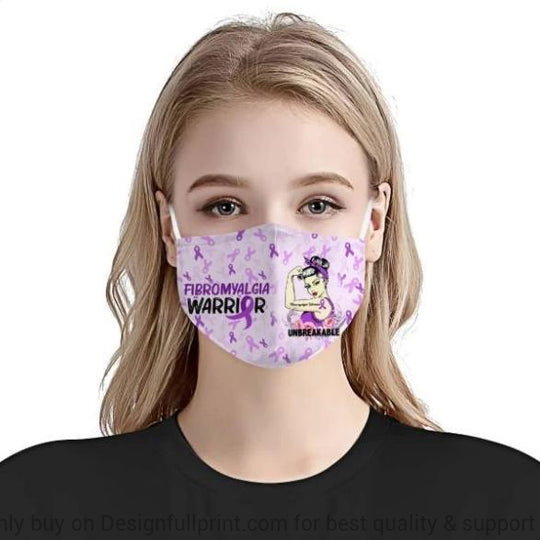 Fibromyalgia Awareness Mask 3-pack