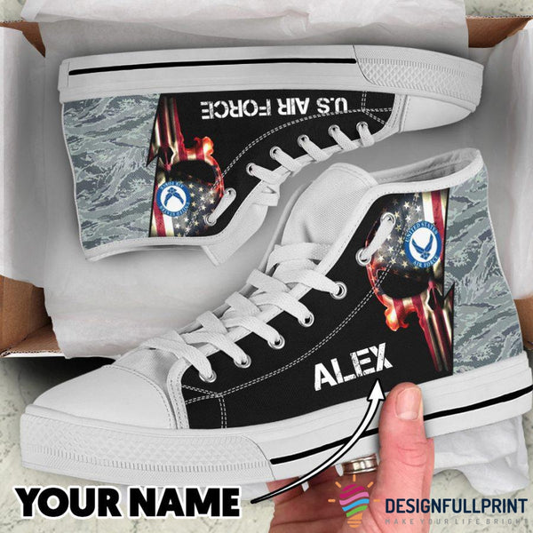 US Air Force Personalized High Top Canvas Shoes