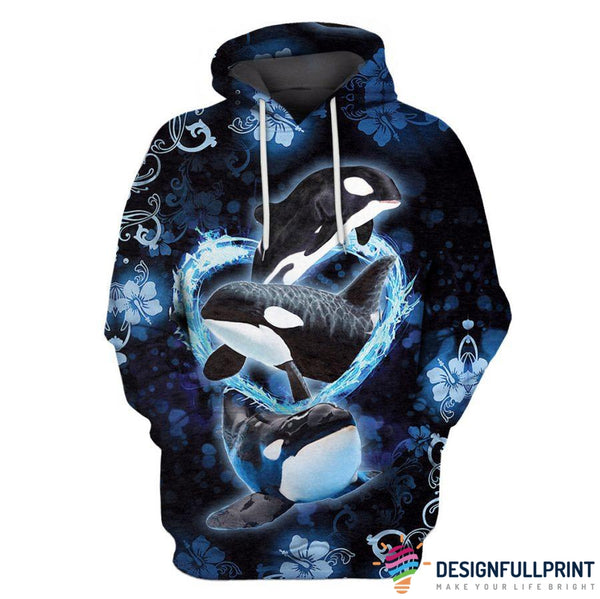 Killer Orca Whale US Unisex Size Hoodie