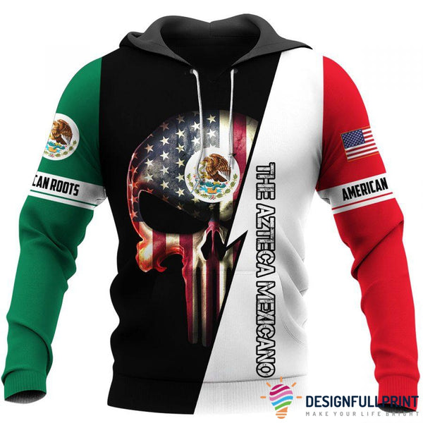 Mexican Skull US Unisex Size Hoodie