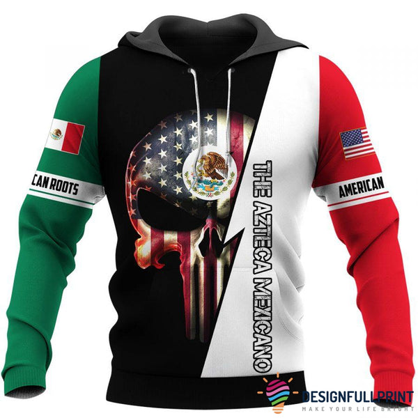 Mexican Skull US Unisex Size Hoodies and Longsleeves