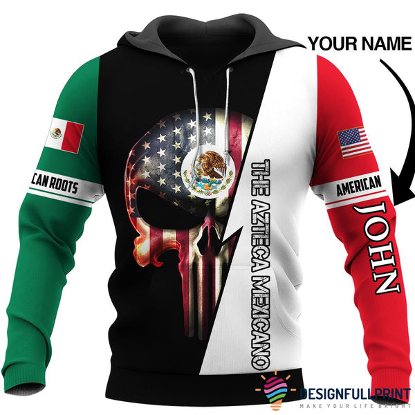 Personalized Mexican Skull US Unisex Size Hoodie