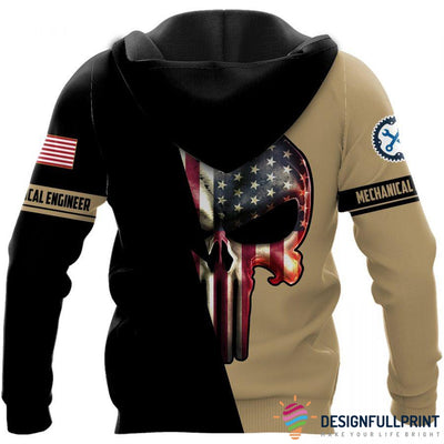 Mechanical Engineer Skull US Unisex Size Hoodie