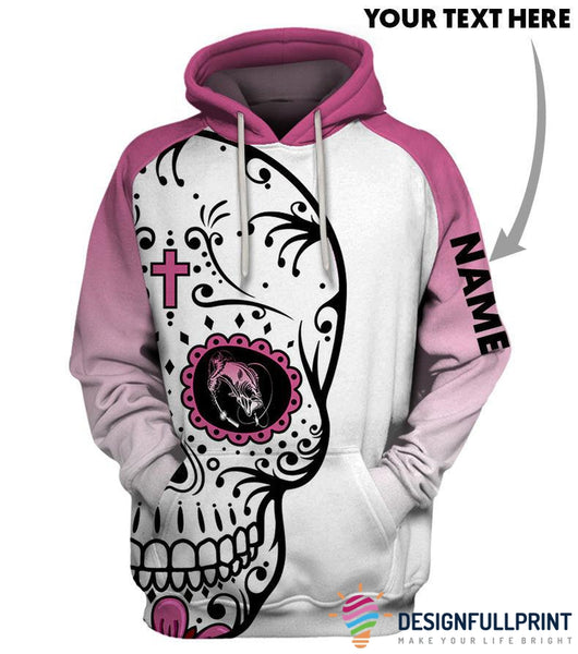 Fishing Mom Sugar Skull Personalized US Unisex Size Hoodie