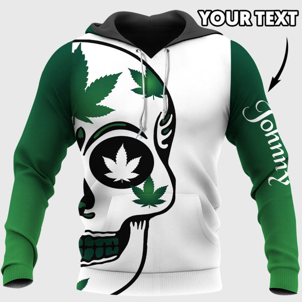Personalized Love Weed Dad US Unisex Size Hoodie - Multi