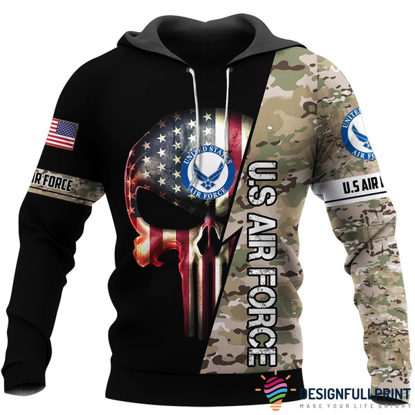 Multicam US  Air Force US Unisex Size Hoodie