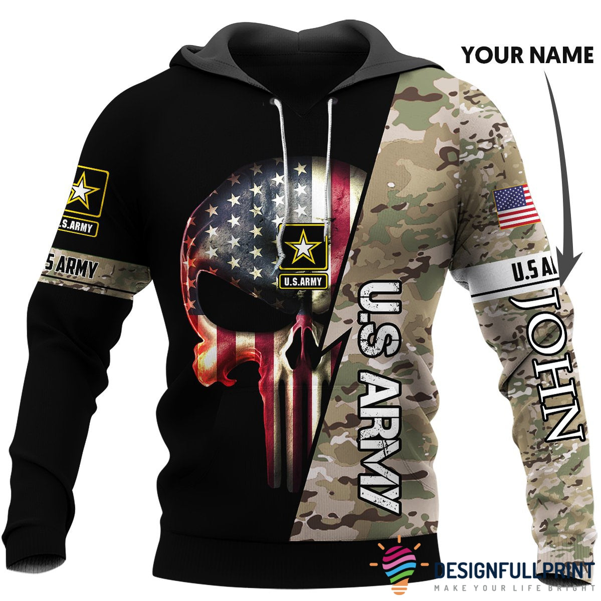 SPECIAL FORCES SKULL GUNS MILITARY ARMED FORCES Mens Gray Sweatshirt