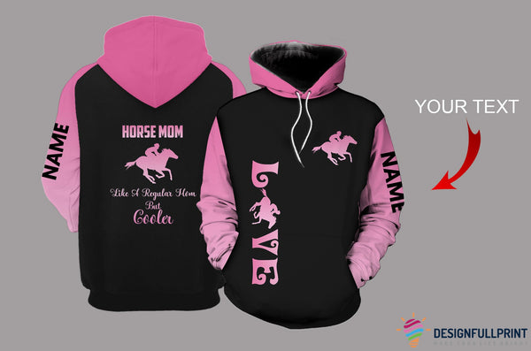 Horse Mom Personalized US Unisex Size Hoodie