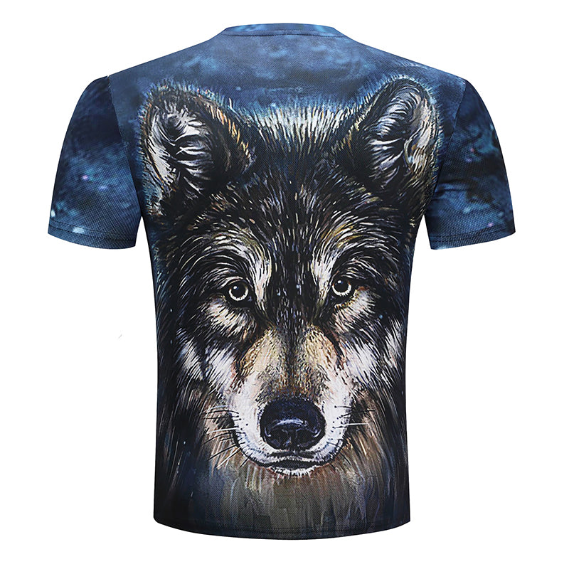 Wolf Printed Unisex T-shirts,  Short SLeeve 3D Top Funny  Novelty Streetwear - designfullprint