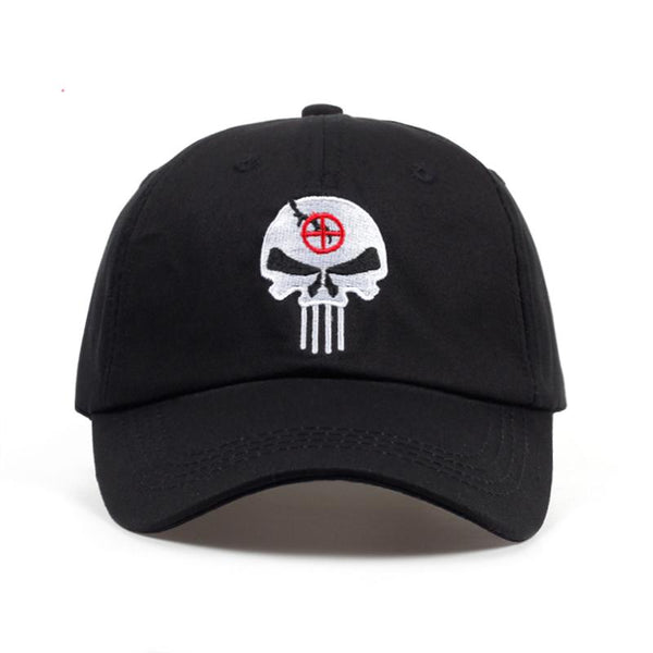 100% Cotton Embroidered US Punisher Skull Logo Baseball Cap Snapback
