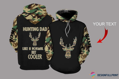 Hunting Dad Personalized US Unisex Size Hoodie