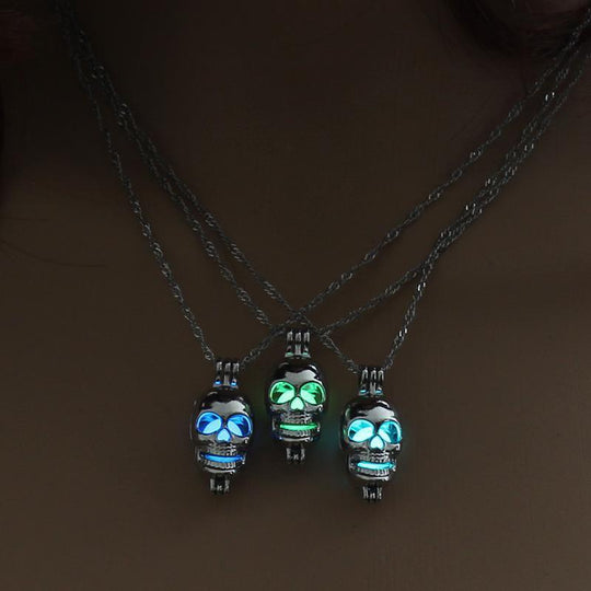 Skull Ghost Glow in the Dark Necklace - designfullprint