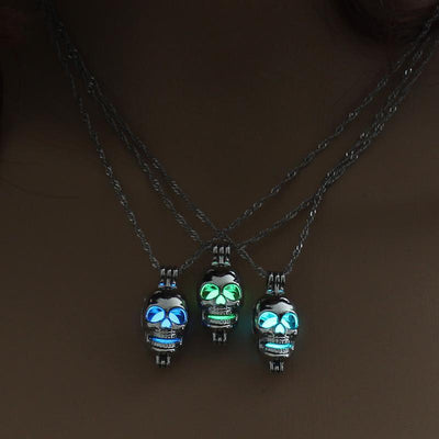 Skull Ghost Glow in the Dark Necklace