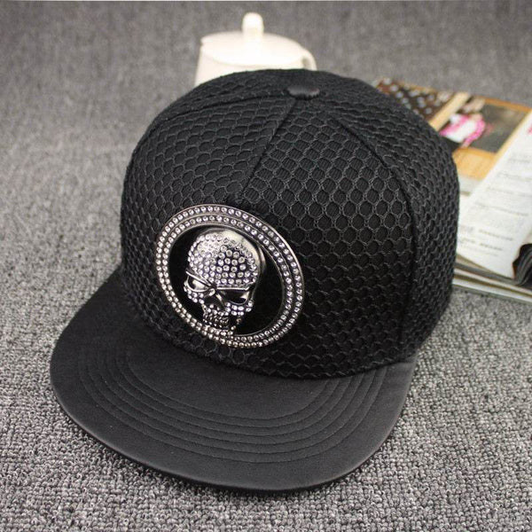 Metal skull Baseball Cap Adjustable Snapback