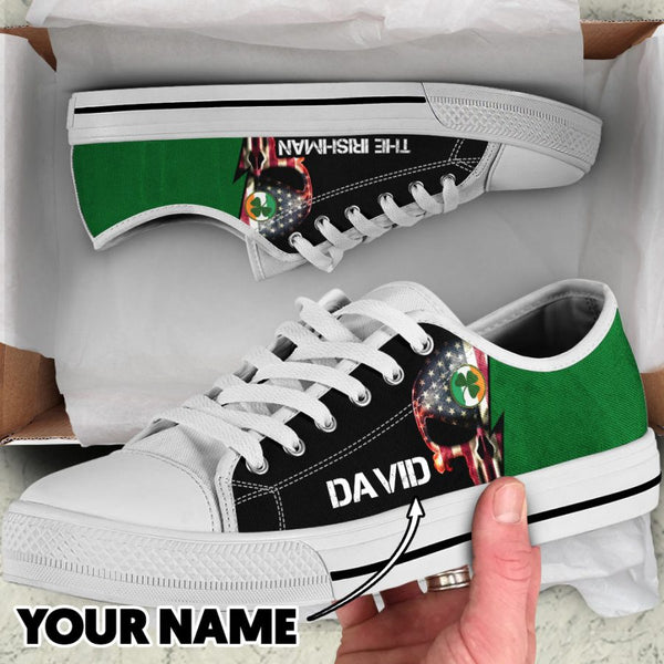 Irishman Personalized LowTop Canvas Shoes