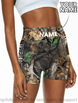 New Deer Hunting Personalized Yoga Shorts