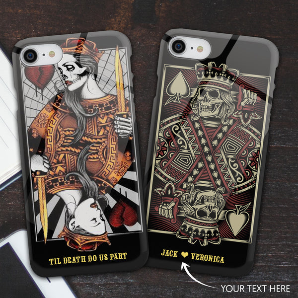 Personalized Skull Couple Phone Cases