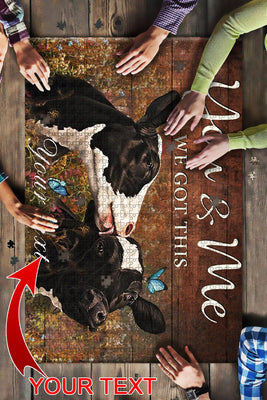 Cow - You and Me Personalized Gift Big Puzzle