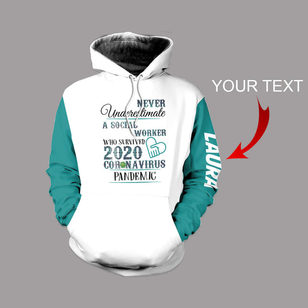Personalized  Social Worker US Unisex Size Hoodie