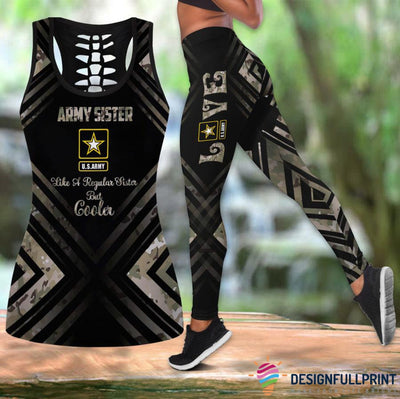 Army Sister Tank Top And Legging Set