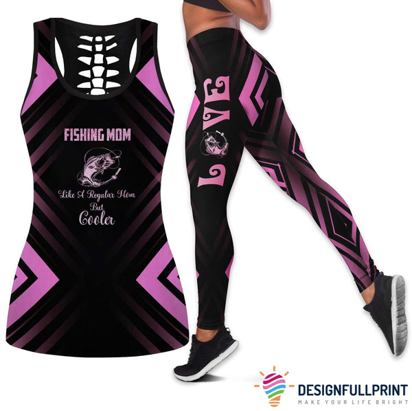 Fishing Mom Tank Top And Legging Set