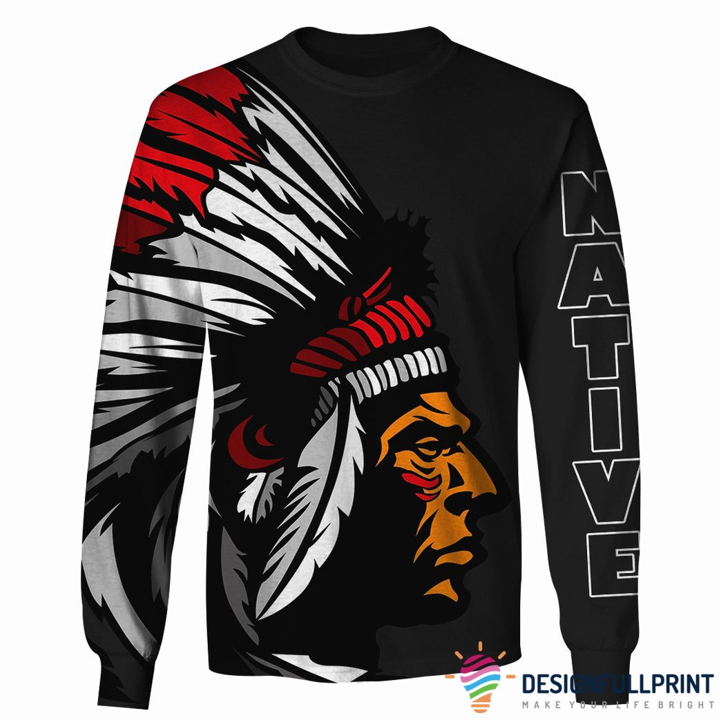 Native Pride Chief Colorful US Unisex Size Hoodie Tee Shirt