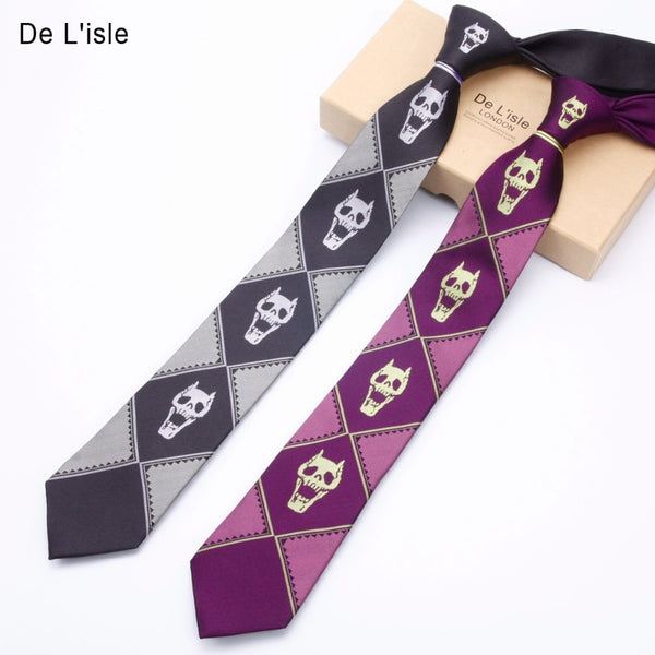 Jacquard Demon Skull Skeleton Narrow Tie