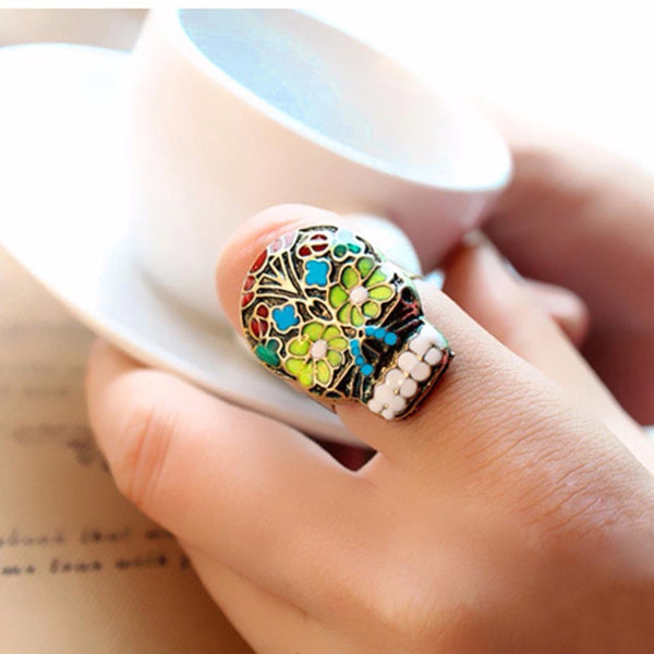 Cool Gothic Adjustable Skull Ring