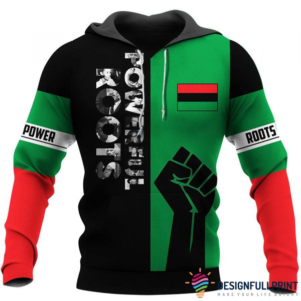 Powerful Roots Black History Month Unisex Size Hoodie and Longsleeves