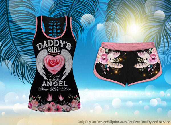 Guardian Angel Daddy Girl Tank And Shorts Set