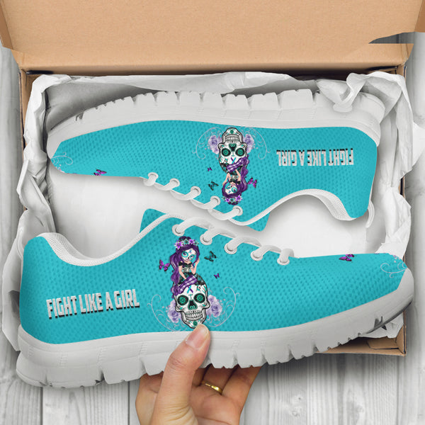 Suicide Awareness Sugar Skull Girl Shoes