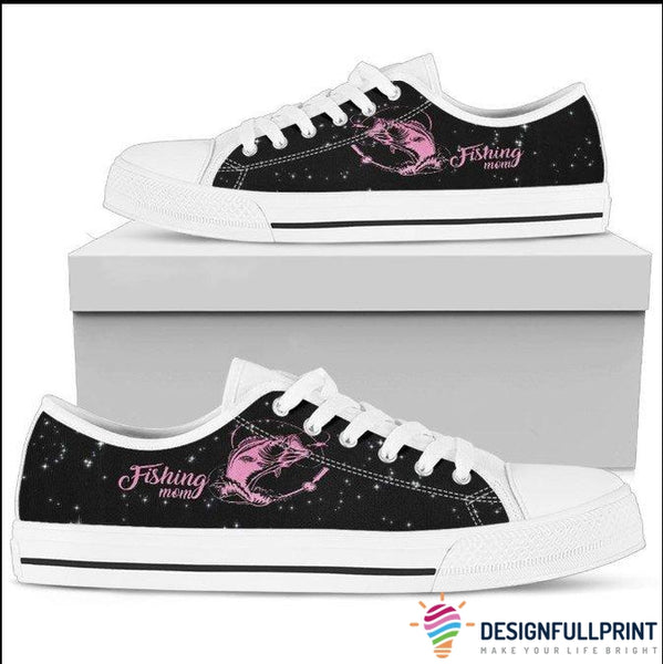 Fishing Mom Low Top Canvas Shoes
