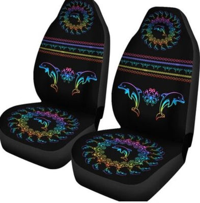 DOLPHIN WITH CIRCLE PATTERN FULL COLOR CAR SEAT NAL