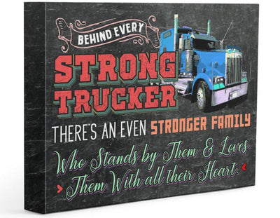 Trucker's Family- Premium Gallery Wrapped Canvas Prints