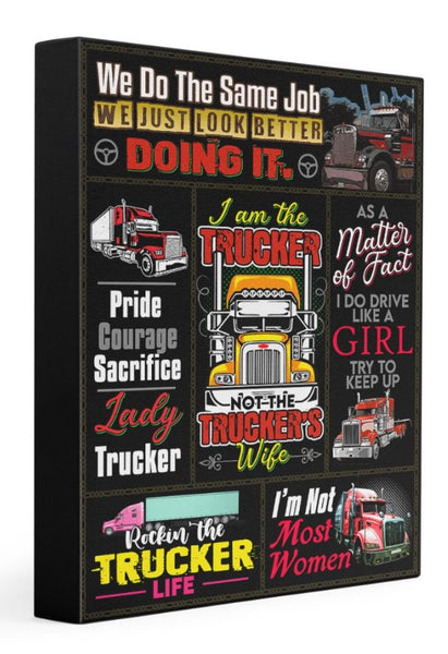 Trucker - Premium Gallery Wrapped Canvas Prints
