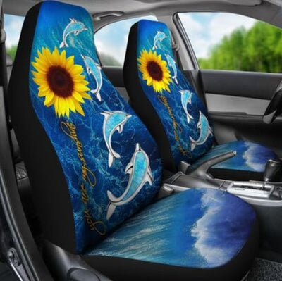 DOLPHIN ON THE OCEAN CAR SEAT NAL