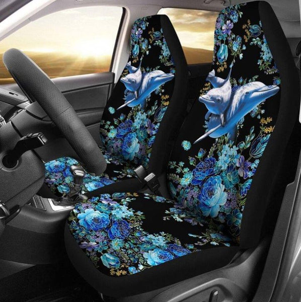 DOLPHIN FLOWER GOLD METALLIC CAR SEAT NAL