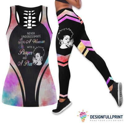 Never Underestimate - Prayer and Plan Tank Top And Legging Set