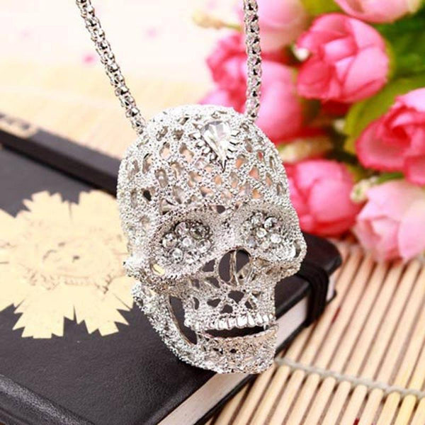 Skull Vintage Crystal Necklace - designfullprint