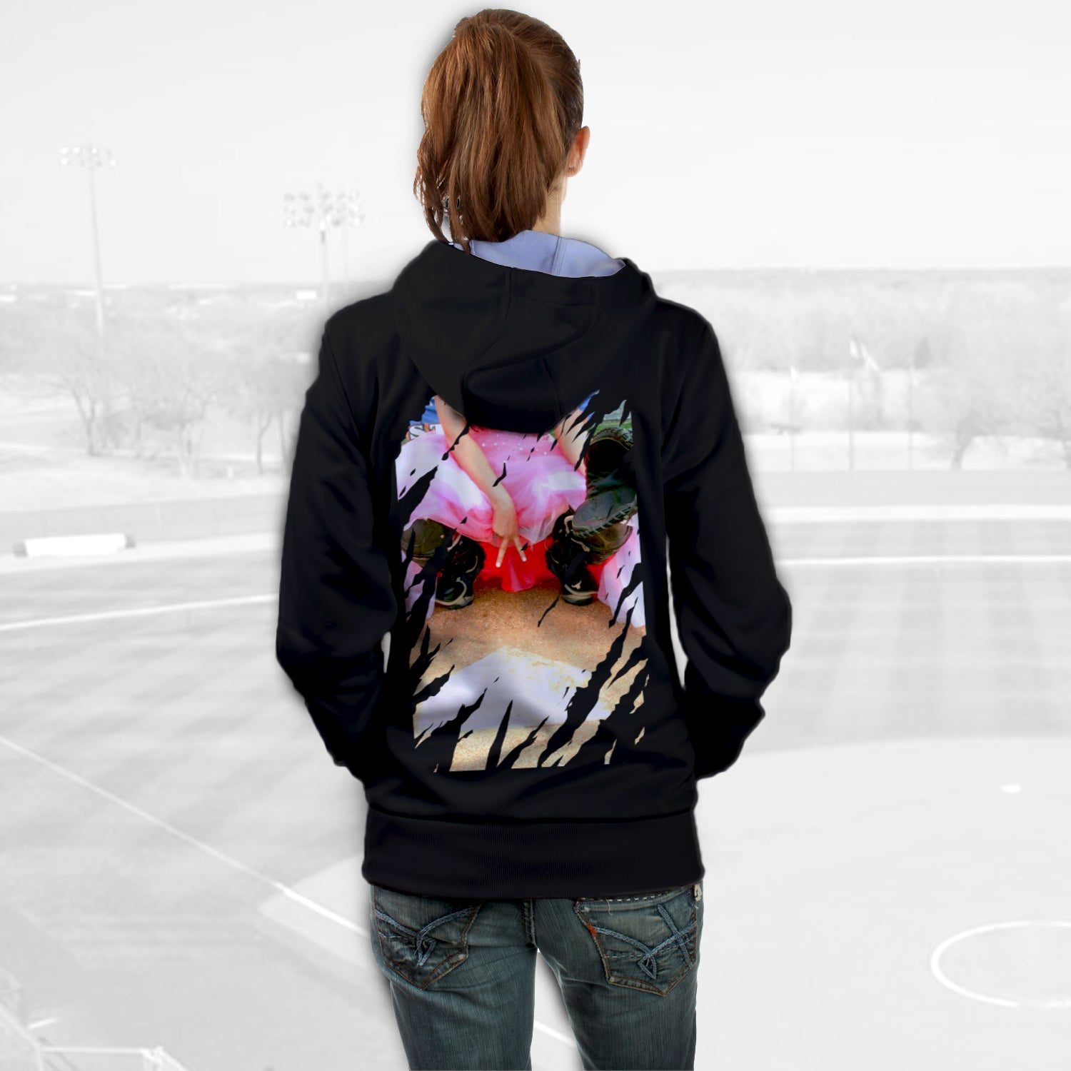 Unisex Hoodies for Softball lovers - Softball Princess - designfullprint