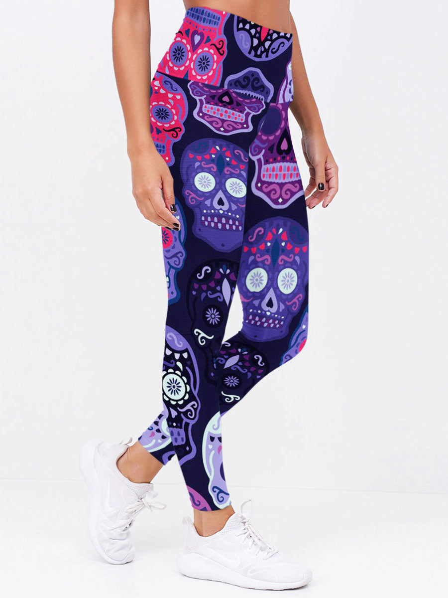 Skull 3D Leggings 04